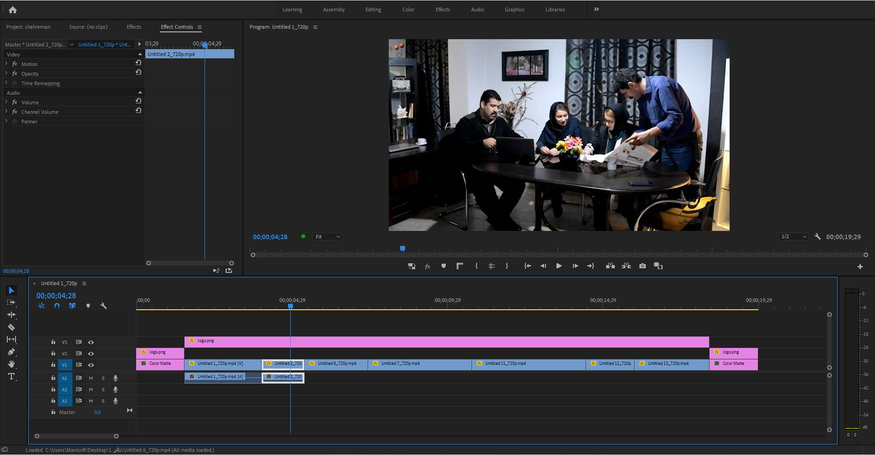 محیط تدوین فیلم در پریمیرپرو Premiere Pro و پریمیرالمنت Premiere Element